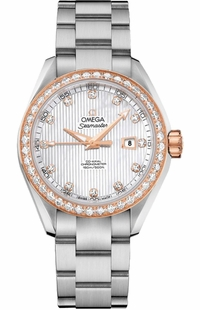 Omega Seamaster Aqua Terra Diamond Women's Luxury Watch 231.25.34.20.55.003