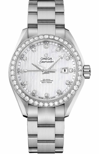 Omega Seamaster Aqua Terra Diamond Women's Watch 231.15.34.20.55.001