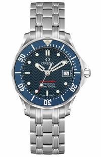 Omega Seamaster Blue Dial Women's Divers Watch 2224.80.00