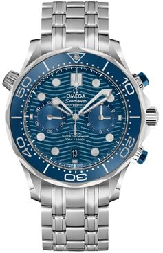 Omega Seamaster Chronograph Blue Dial Men's Watch 210.30.44.51.03.001