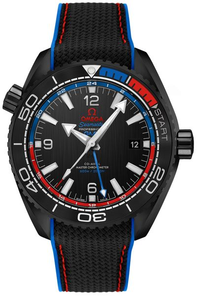 Omega Seamaster Planet Ocean Co-Axial Master Chronometer GMT Men's Watch 215.92.46.22.01.004