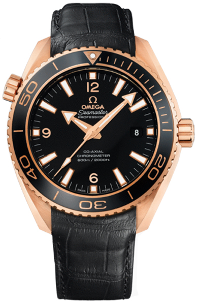 New Omega Seamaster Planet Ocean 232 63 46 21 01 001 18k Rose Gold Ceramic Watch Black Dial Caliber 8501 Automatic Movement