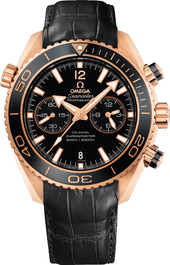 New Omega Seamaster Planet Ocean 232 63 46 51 01 001 18k Rose Gold Ceramic Watch Black Dial Caliber 9301 Automatic Movement