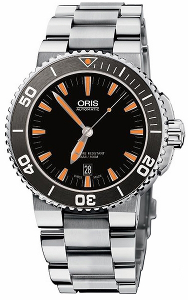 Oris Aquis Date Black Dial Men's Watch 73376534159MB
