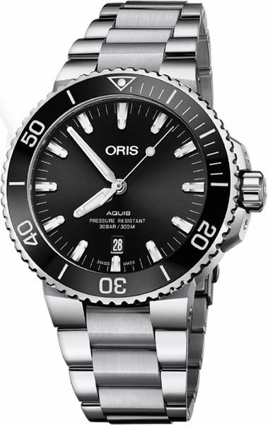 Oris Aquis Date Black Dial Men's Watch 73377304134MB