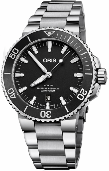 Oris Aquis Date Black Dial Steel Men's Watch 73377304154MB