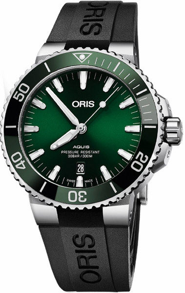 Oris Aquis Date Green Dial Men's Watch 73377304157RS