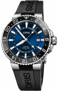 Oris Aquis GMT Date Blue Dial Men's Watch 79877544135RS-BLACK