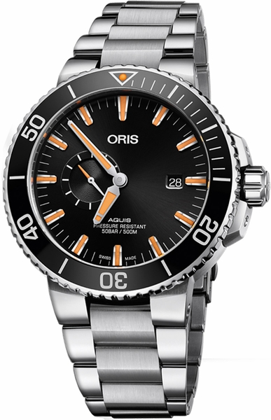 Oris Aquis Small Second, Date Automatic Diving Watch 74377334159MB