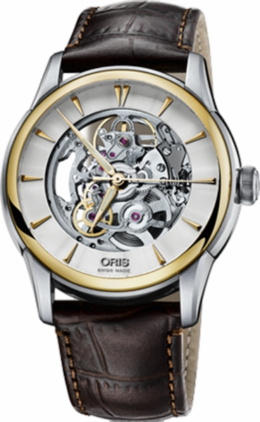 Oris Artelier Skeleton Men's Automatic Watch 73476704351LS