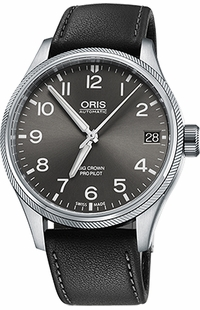 Oris Big Crown ProPilot Date Grey Dial Watch 75176974063LS