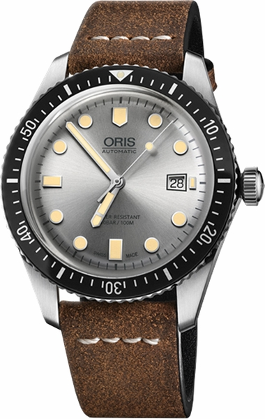 Oris Divers Sixty-Five Silver Dial Men's Watch 73377204051LS