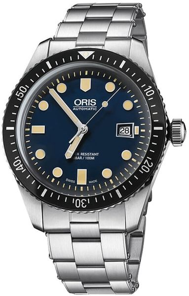 Oris Divers Sixty-Five Blue Luminous Dial Men's Watch 73377204055MB