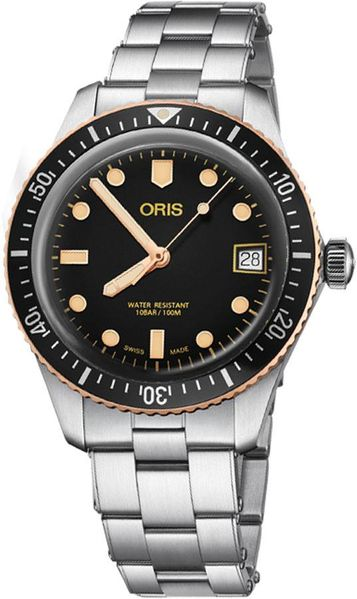 Oris Divers Sixty-Five Black Dial Men's Watch 73377474354MB