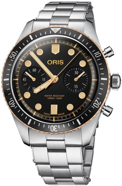 Oris Divers Sixty-Five Chronograph 43mm Men's Watch 77177444354MB