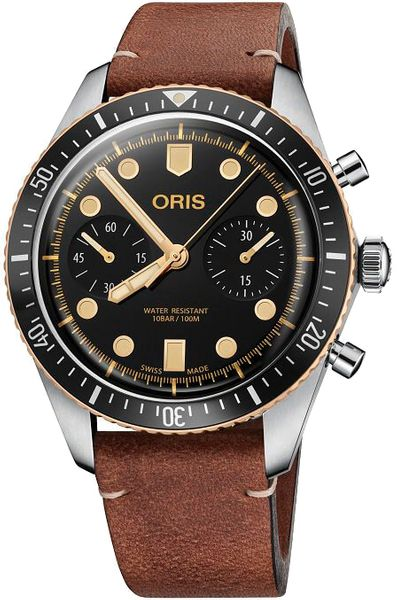 Oris Divers Sixty-Five Chronograph Men's Watch 77177444354LS