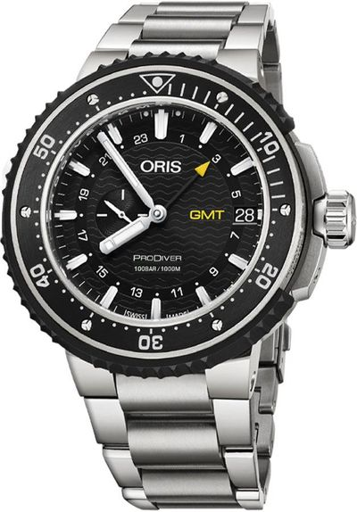 Oris Pro Diver GMT Titanium Men's Watch 74877487154MB