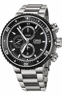 Oris ProDiver Chronograph Titanium Men's Watch 77477277154MB