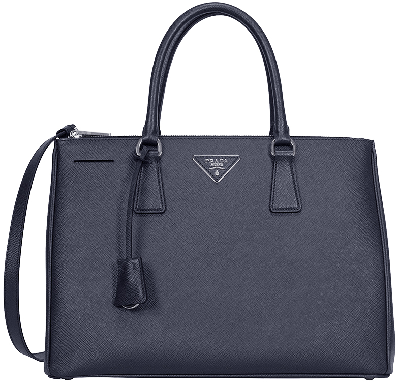 8aa21b54563d Dark Blue Prada Saffiano Lux Medium Double-Zip Tote Bag - image 0 ...