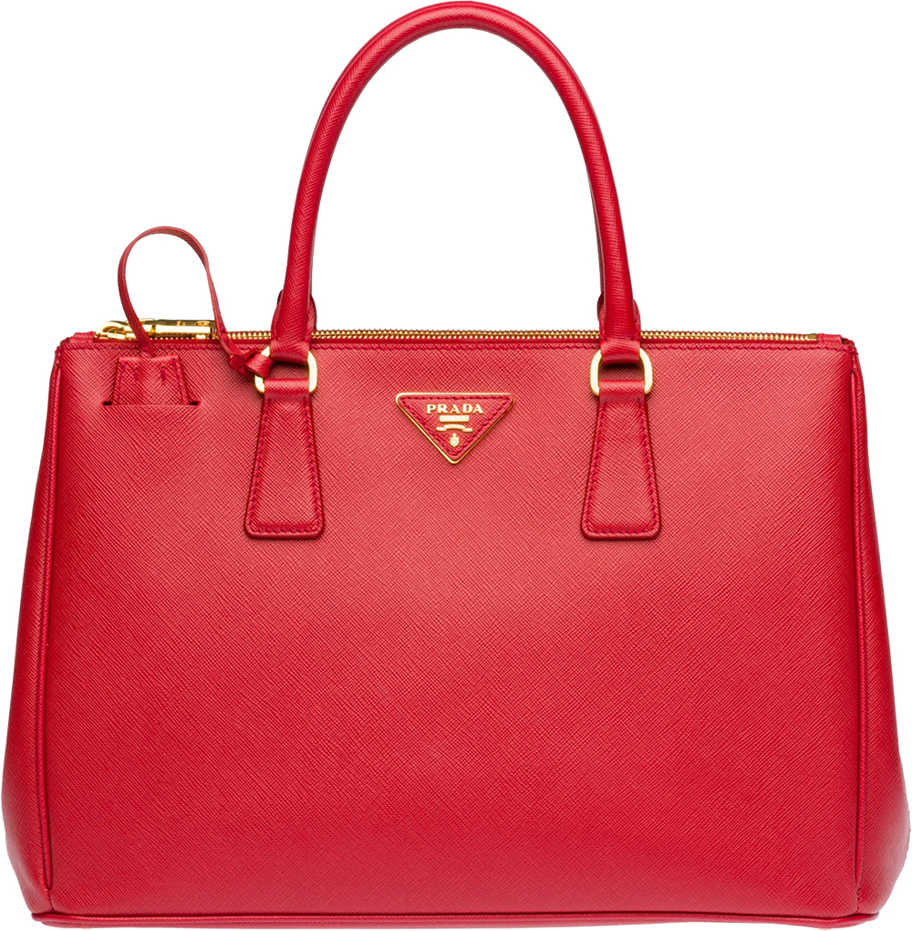00f57329d18db5 Women's Red Prada Saffiano Lux Medium Double-Zip Tote Bag - image 0 ...