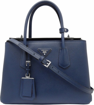 Prada Saffiano Cuir Medium Twin Tote Bag
