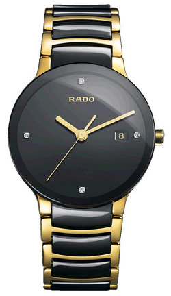 35afac8b3 R30929712 Rado Centrix Jubile Mens Gold Tone and Ceramic Quartz Watch with  Diamonds