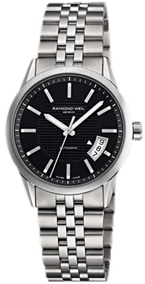 New Raymond Weil Freelancer 2770-ST-20001 Black Dial Automatic ...