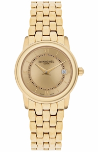 Raymond Weil Tradition Yellow Gold Tone Women's Watch 5398-P-00107