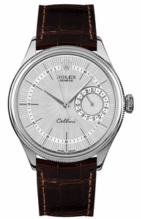 Rolex Cellini Date Silver Dial Luxury Men's Watch 50519
