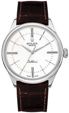 Rolex Cellini Time White Dial Index Hour Markers Men's Watch 50509