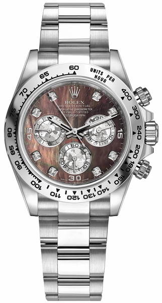 Rolex Cosmograph Daytona Black Mother of Pearl Dial Watch 116509