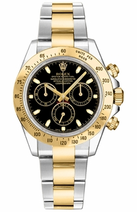 Rolex Cosmograph Daytona Black Dial Men's Watch 116523