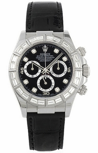 Rolex Cosmograph Daytona Black Diamond Dial Men's Watch 116589