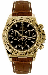 Rolex Cosmograph Daytona Leather Strap Watch 116518