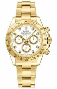 Rolex Cosmograph Daytona White Diamond Dial Watch 116528