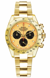 Rolex Cosmograph Daytona Yellow Gold Men's Watch 116528