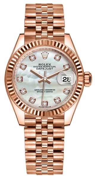 Rolex Lady-Datejust 28 Diamond Pearl Women's Watch 279175