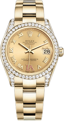 Rolex Datejust 31 18k Yellow Gold Women\u0027s Watch 178158