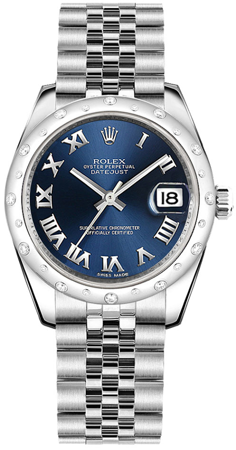 Rolex_Datejust_31_Blue_Roman_Numeral_Dial_Watch_178344