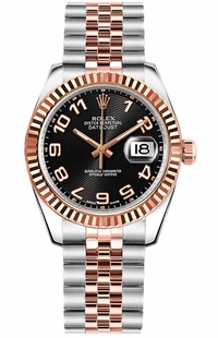 Rolex Datejust 31 Concentric Circle Black Dial Watch 178271