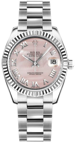 Rolex Datejust 31 Pink Mother of Pearl Dial Women's Watch 178274