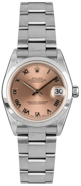 Rolex Datejust 31 Stainless Steel Pink Dial Women's Watch 78240