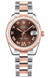 Rolex Datejust 31 Stainless Steel & Rose Gold Ladies Watch 178341