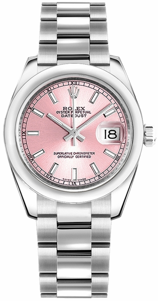 Rolex Datejust 31 Stainless Steel Pink Dial Watch 178240