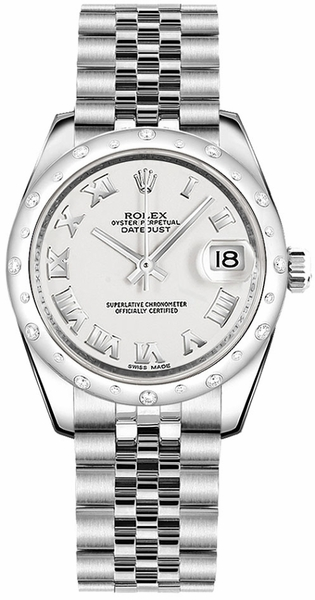 Rolex Datejust 31 White Roman Numeral Watch 178344