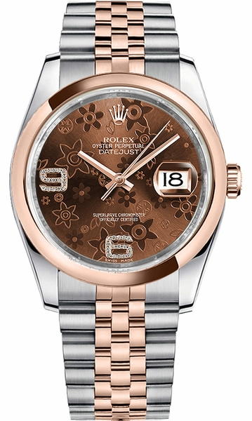 Rolex Datejust 36 Steel & Rose Gold Watch Women's 116201