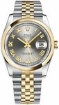 Rolex Datejust 36 Steel Roman Numeral Dial Watch 116203