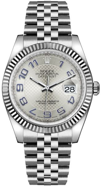 Rolex Datejust 36 Silver Dial Men's Watch 116234