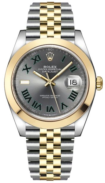 Rolex Datejust 41 Wimbledon Dial Men's Watch 126303-0020