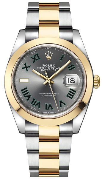 Rolex Datejust 41 Wimbledon Dial Men's Watch 126303-0019